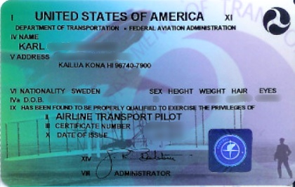 FAA ATP helicopter license