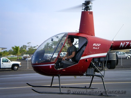 First solo in R22 helicopter