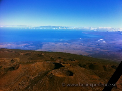 Helicopter flight over the big island of Hawaii
